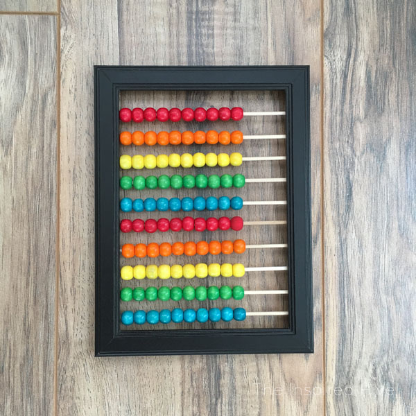 DIY Abacus Wall Art | The Inspired Hive
