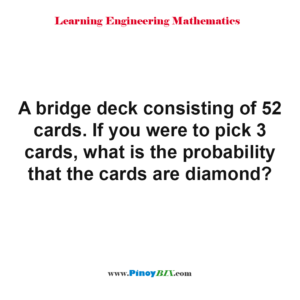 What is the probability that the cards are diamond?