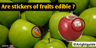 Stickers,label,code,on fruit ,edible,FDA,Approved,Arightguide