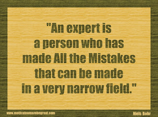 "Featured in our 34 Inspirational Quotes How To Fail Your Way To Success: ""An expert is a person who has made all the mistakes that can be made in a very narrow field."" - Niels Bohr"