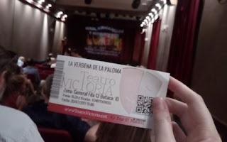 mi entrada para la zarzuela La verbena de la Paloma