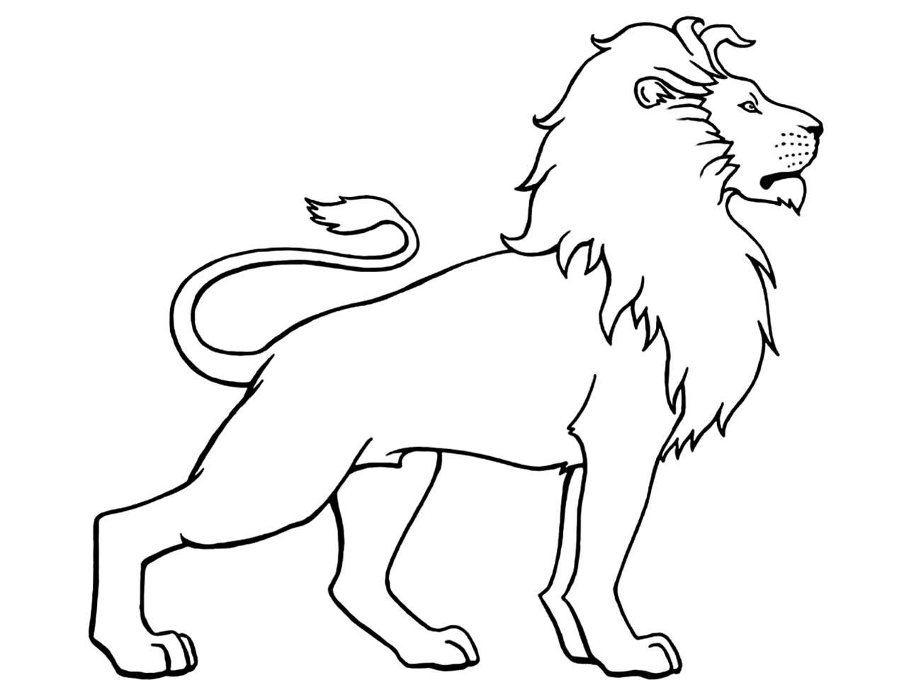 Tranh tô màu con sư tử 4