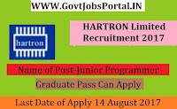 HARTRON Limited Recruitment 2017– 47 Junior Programmer