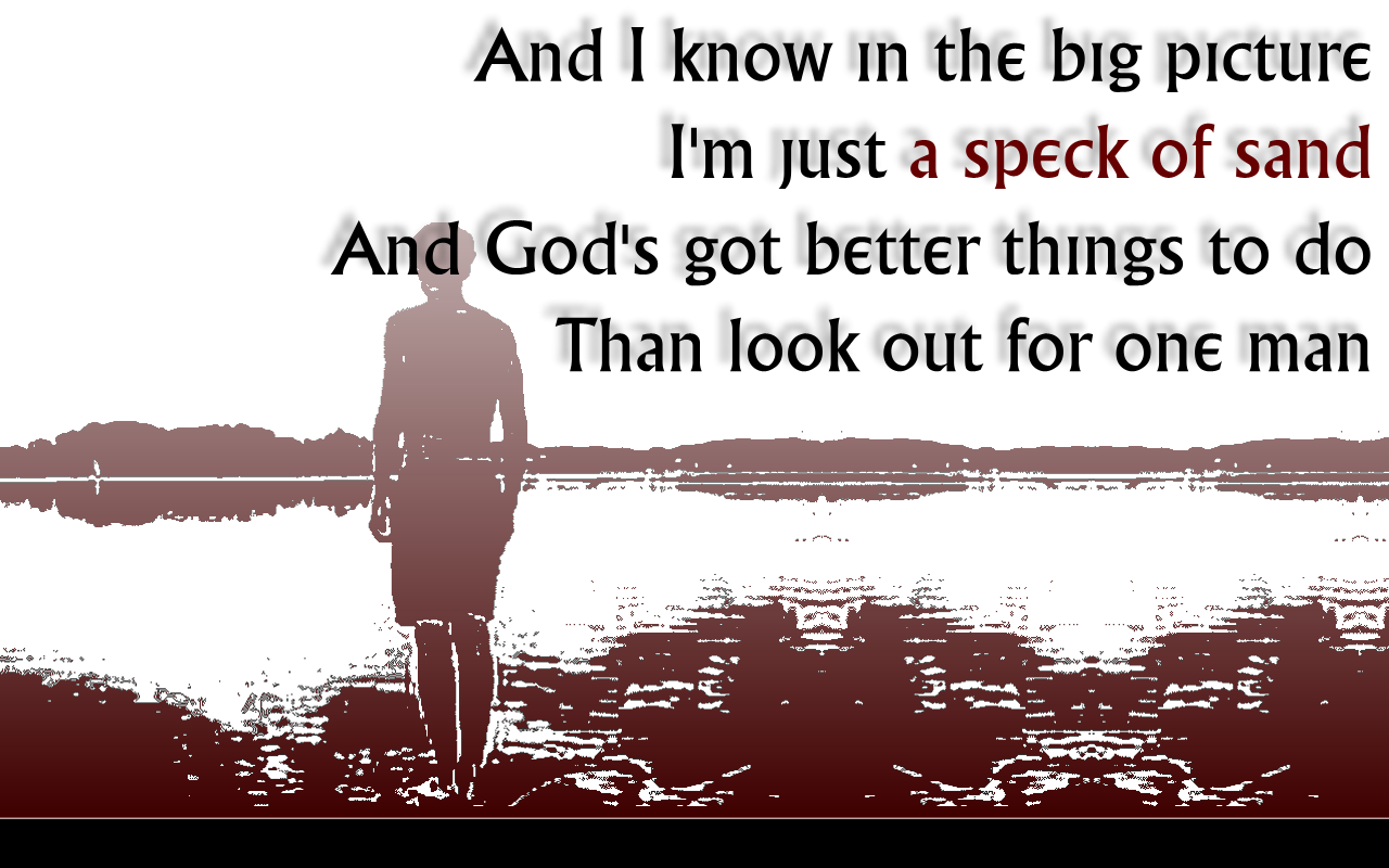 Song Lyric Quotes In Text Image: God Must Be Busy