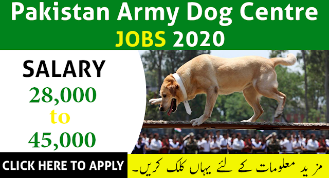 Pakistan Army Dog Center Jobs 2020 Apply Now