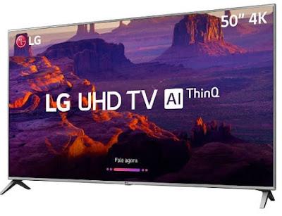 """Foto da Smart TV LED 50"""" LG ThinQ AI 4K HDR 50UK6520PSA"""