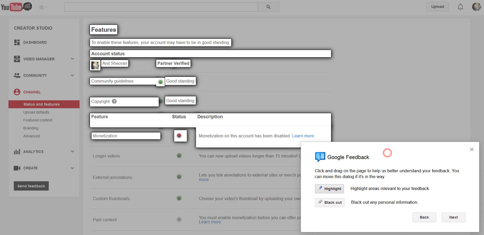 how to get youtube community tab