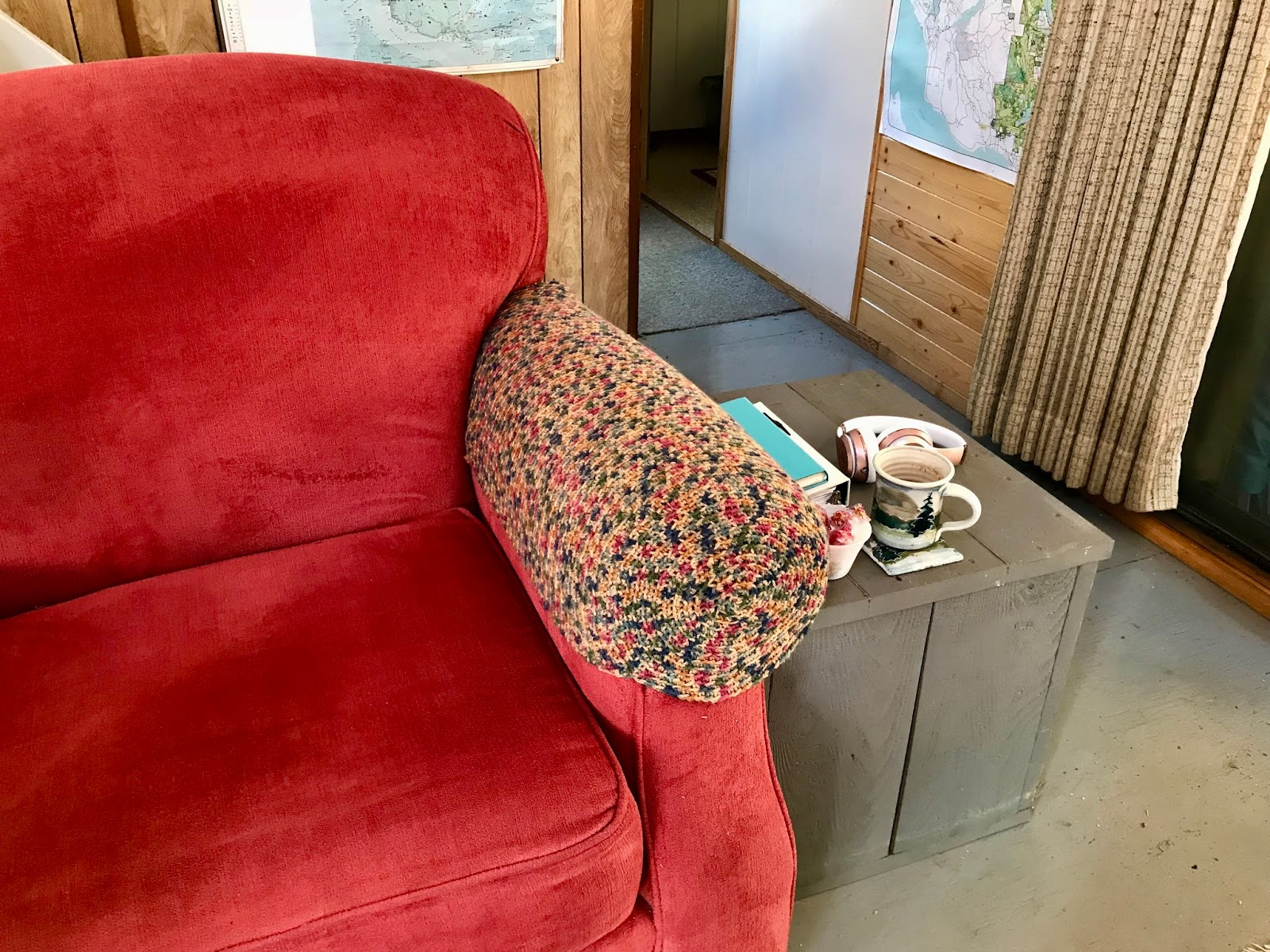 Crochet Sofa Arm Covers Bed Furniture Powell River Books Blog Armrest