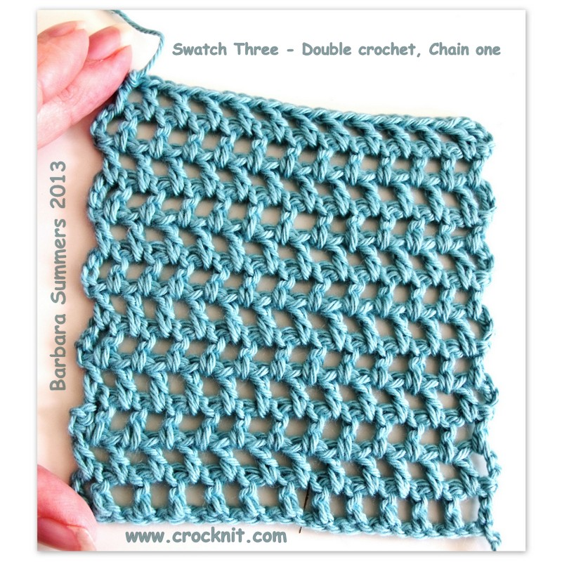 Microcknit Creations Swatch Three How To Crochet Offset Filet