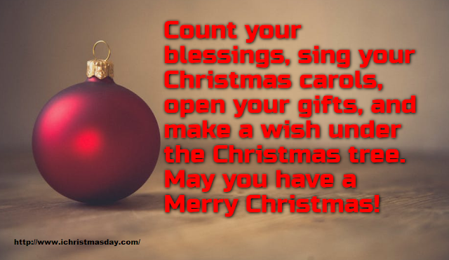 Words to Wish You a Merry Christmas 2017