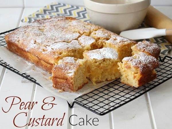 Pear & Custard Cake