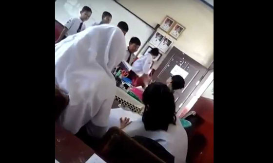 Video Murid Antri Ditampar dan Dicubit Guru Ini Jadi Perhatian Netizen