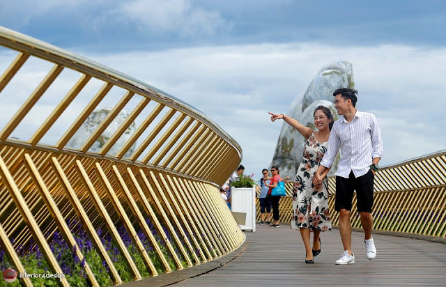 The Golden Bridge Which Adheres To Giant Hands  Is A New Attraction In Vietnam 5