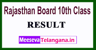 Rajasthan Board 10th Class Result 2017