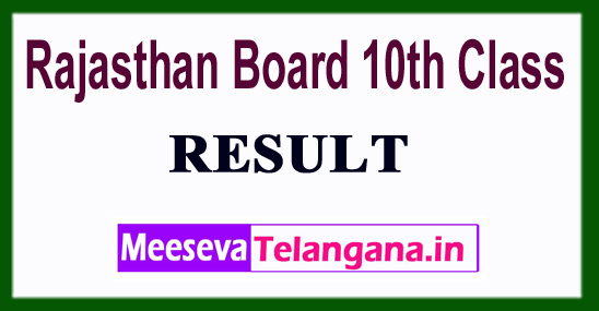Rajasthan Board 10th Class Result 2018