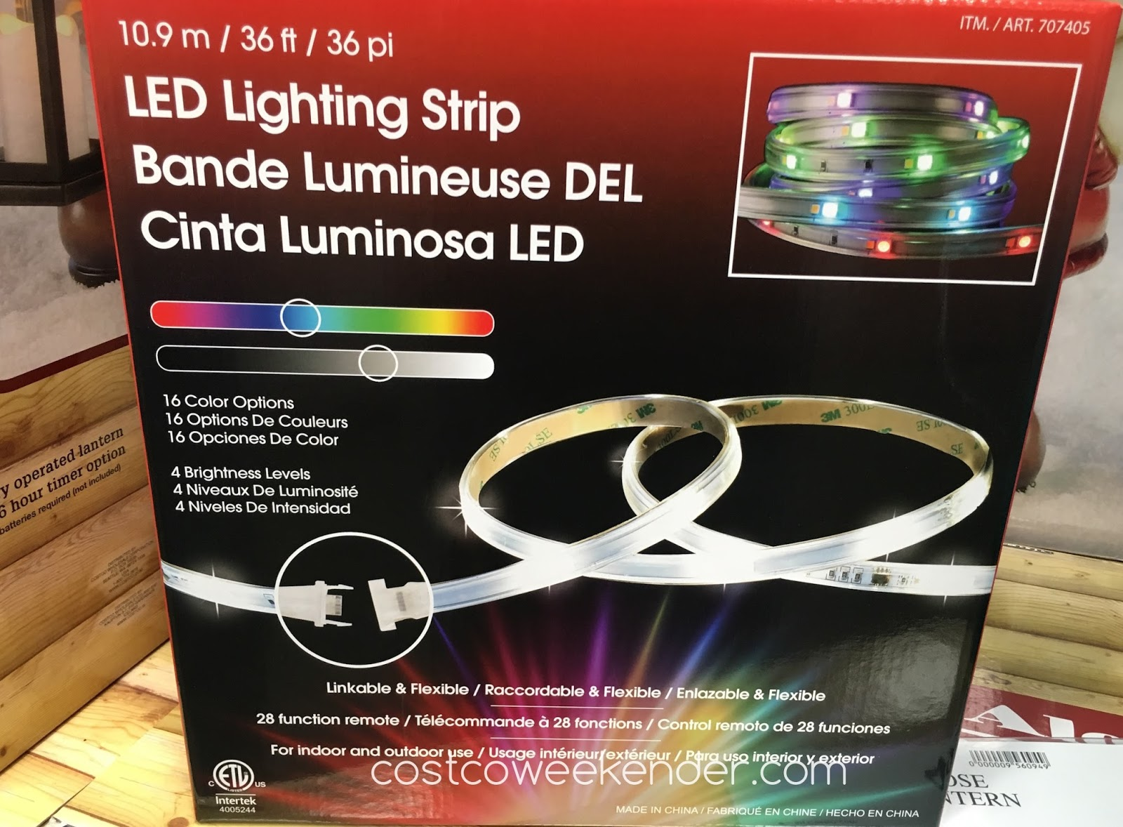 Dsi led lighting strip costco weekender place leds almost anywhere with the dsi led lighting strip aloadofball Images