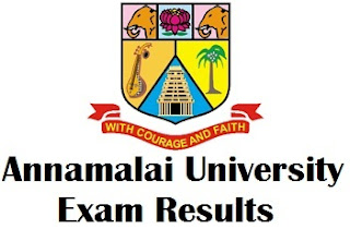 Annamalai University Chidambaram Results 2017