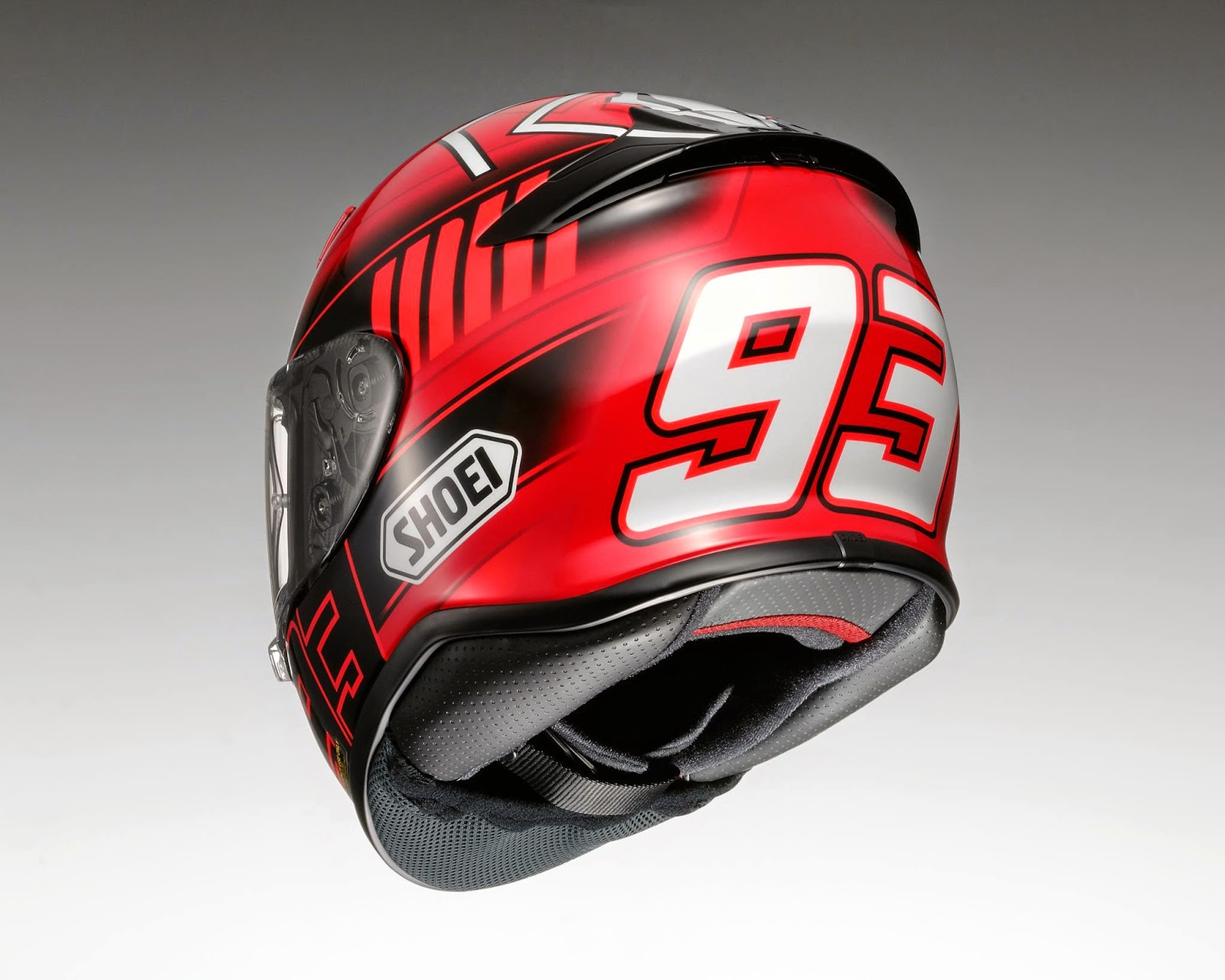 racing helmets garage shoei nxr replica marc m rquez 2015. Black Bedroom Furniture Sets. Home Design Ideas