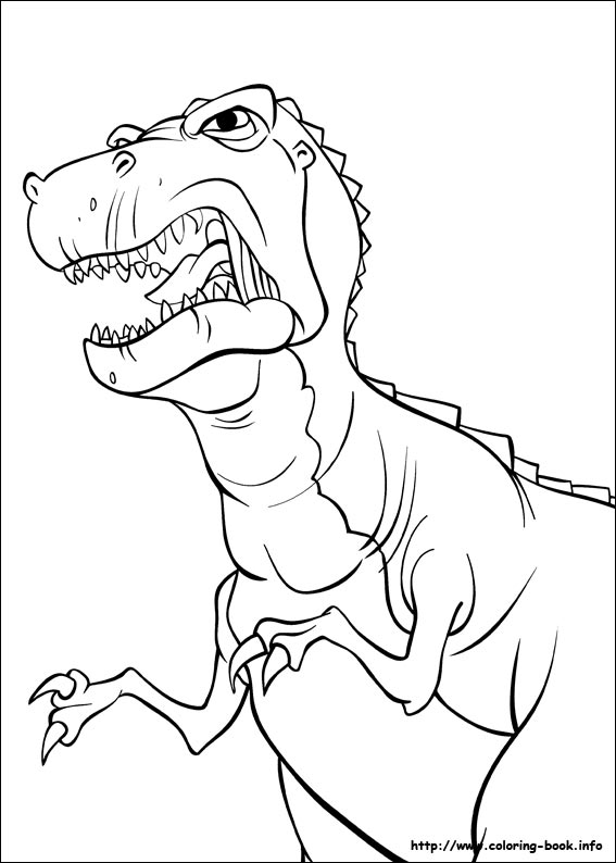 Land before time dinosaur coloring pages ~ FUN & LEARN : Free worksheets for kid: ภาพระบายสีไดโนเสาร์ ...