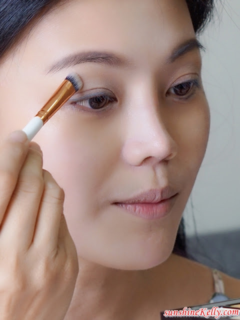 Kate Tokyo Makeup Tutorial, Quick, Easy, Long-Lasting Natural Makeup, Kate The Base Zero Powdery Skin Maker foundation, Kate Designing Eyebrow 3D, kate Fit Rare Gel eyeliner, makeup review