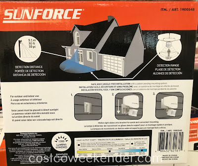 Scare would be burglars with the Sunforce Solar Motion Activated Light