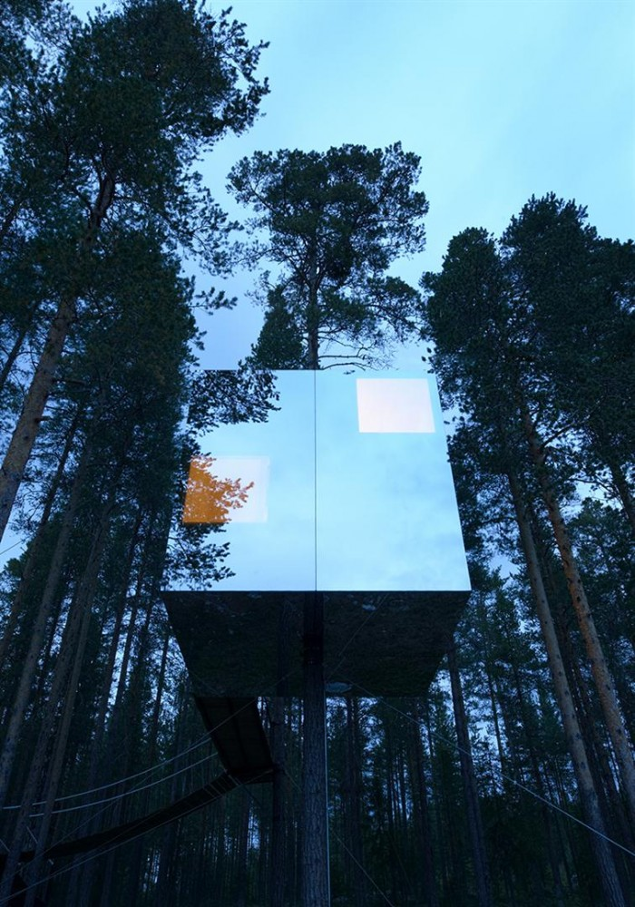 Unique Unusual Tree Hotel Harads Sweden Most Beautiful Houses In