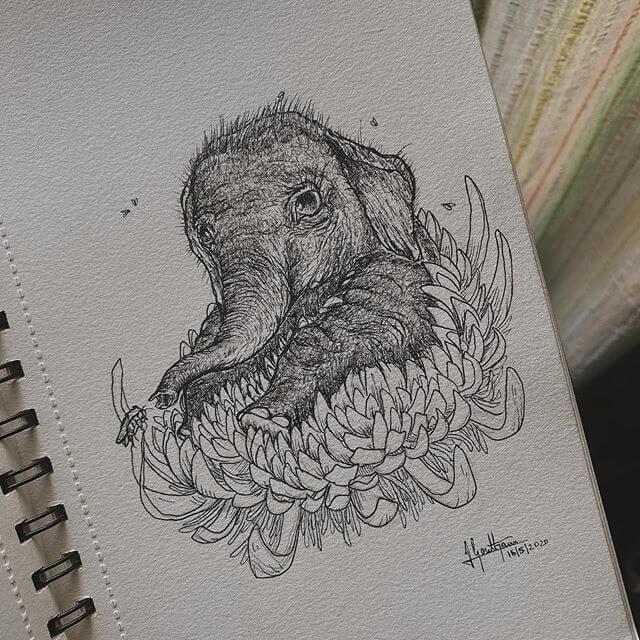 08-The-baby-elephant-Goutham-Tulasi-www-designstack-co