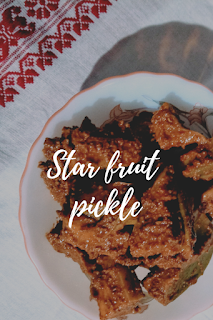 A tasty pickle recipe made from starfruit.