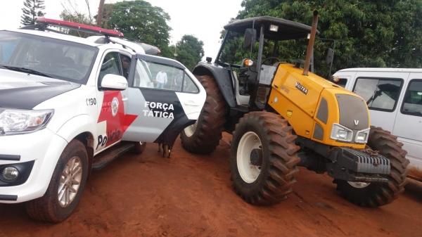 Força Tática localiza e recupera tratores roubados na zona rural de Mogi Guaçu