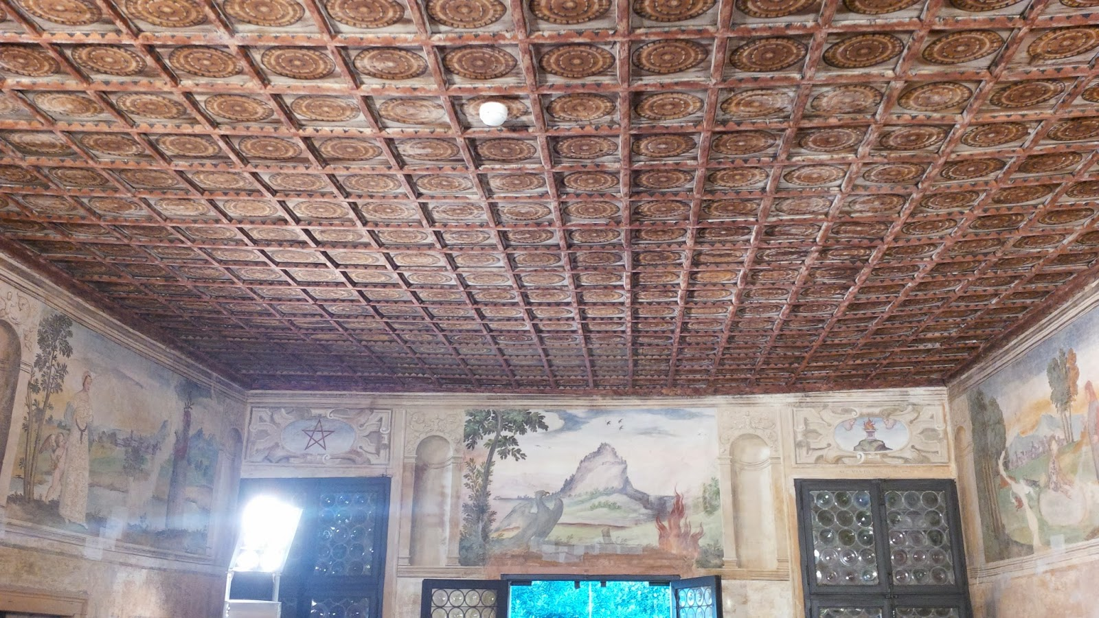 The ceiling of the lounge in the house where Petrarch spent his final years