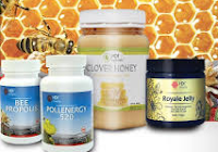 pollen, propolis, royal jelly, clover honey