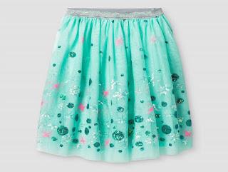 Chân váy bé gái voan, kim sa lấp la lấp lánh, size từ 4T đến 16T.