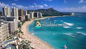 Keindahan Pantai Hawaii Waikiki