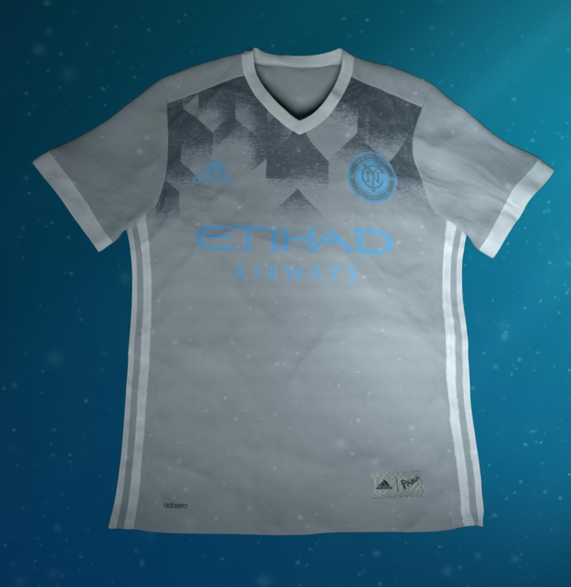 This image shows the special-edition Adidas x Parley New York City FC jersey . 1f94098a3b18