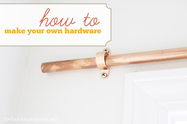 DIY Curtain Rod Copper Pipe