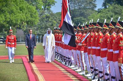 Dentuman 21 Meriam Sambut Kunjungan Putra Mahkota Abu Dhabi ke Istana Bogor