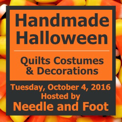 Red Letter Quilts: Handmade Halloween: The Bat in the Moonlight on