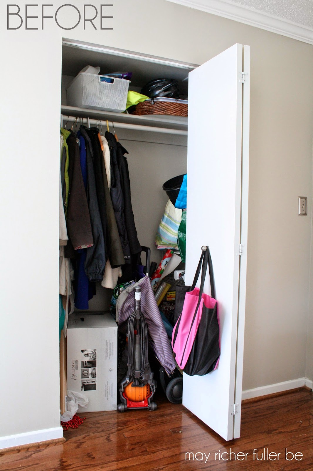 Operation Re Organization Front Hall Closet After