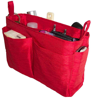 handbag organizer, red
