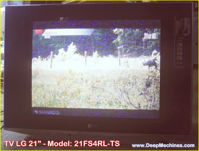 Kerusakan Mati Total pada TV LG 21-Inch Model: 21FS4RL-TS selesai di perbaiki