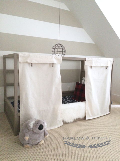 Ikea Kura Bed Hack Option 2 With Diy Ball Harlow