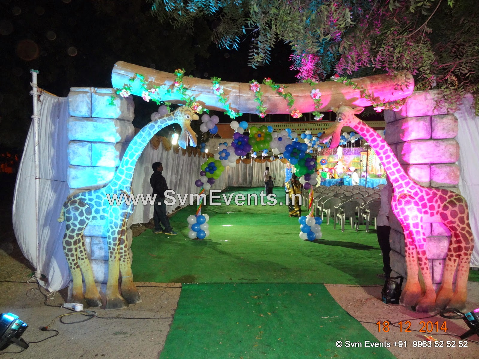 Svm Events 1st Birthday Party Decoration Theme Party Jungle Chota