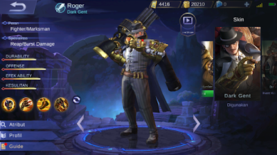 Build Roger Mobile Legends Paling Sakit