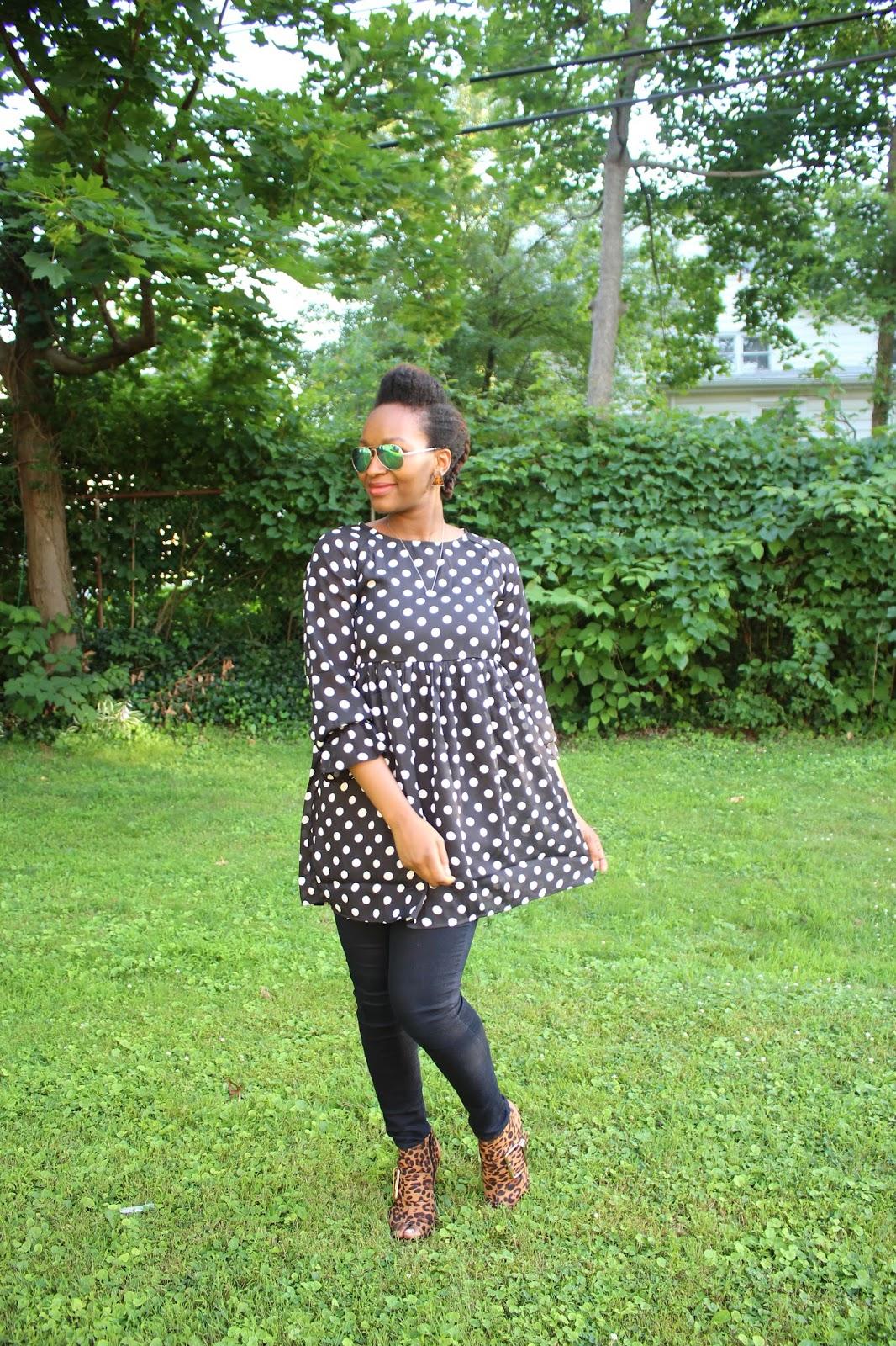 My Style Oasis, Babydoll dress, SheIn Polka Dot Dress