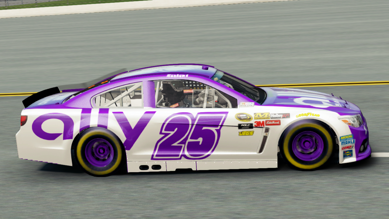 Jimmie Johnson Car >> NASCAR The Game: Ally Bank Original Paint Scheme - Part 2 (Brian Vickers Hendrick Motorsports ...