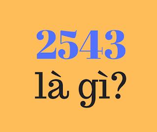 2543 la gi