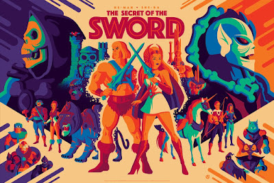 "Masters of the Universe ""He-Man and She-Ra: The Secret Of The Sword"" Magic Variant Screen Print by Tom Whalen x Mad Duck Posters"