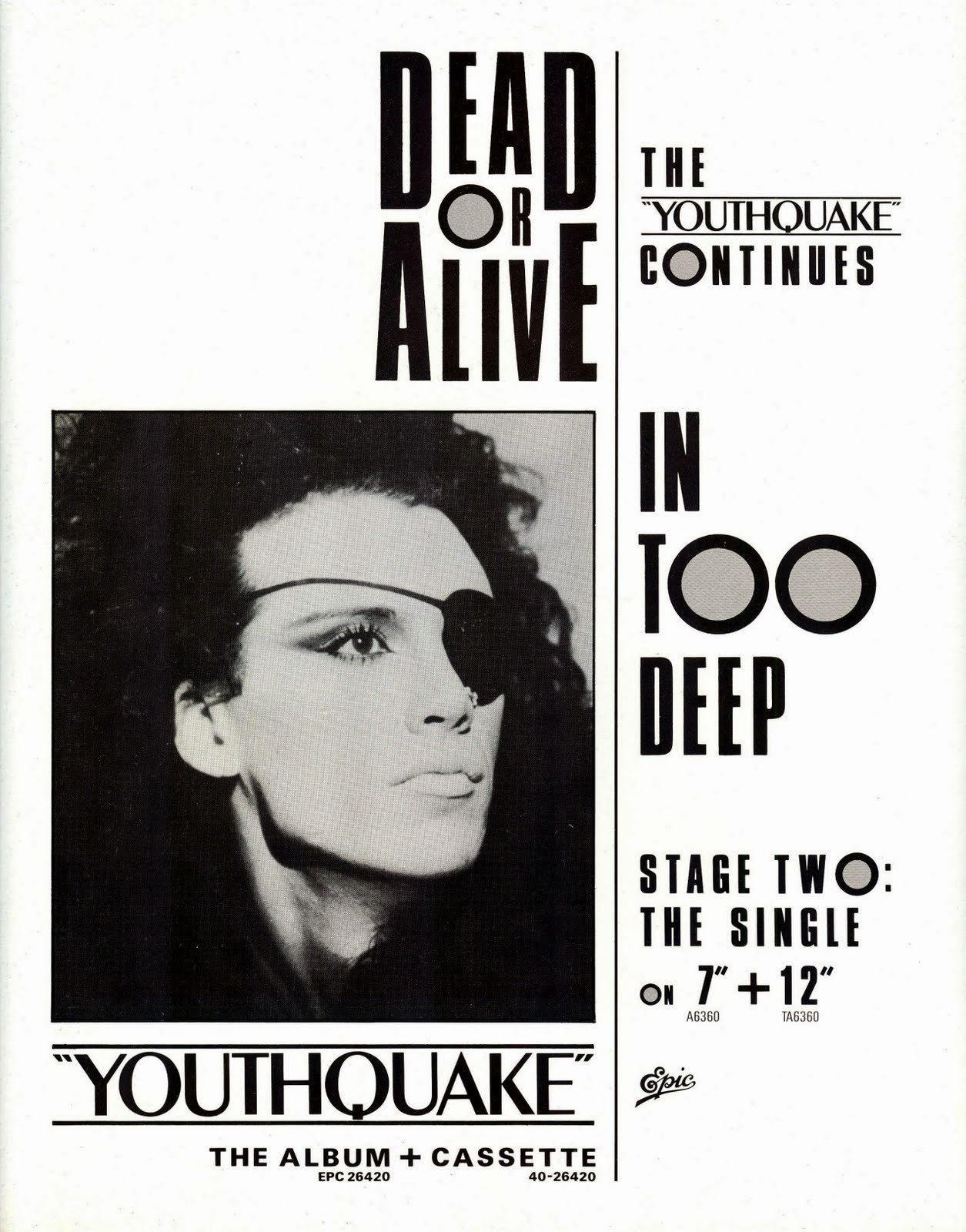 Top Of The Pops 80s Dead Or Alive Youthquake Tour Programme 1985