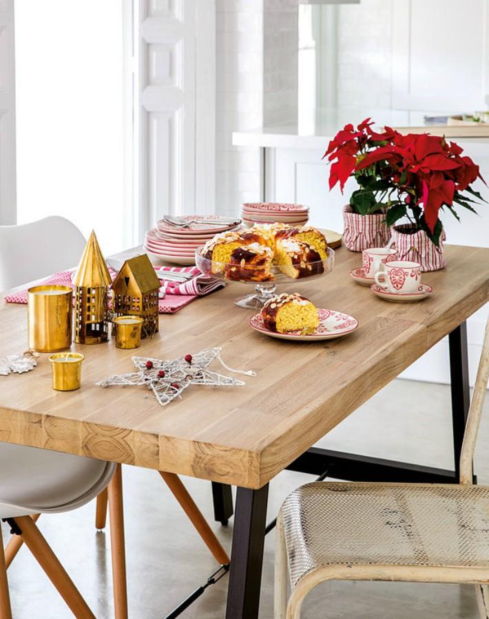 La casa decorada para Navidad de una blogger de cocina