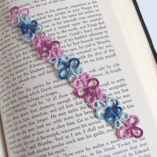 tatted lace bookmark